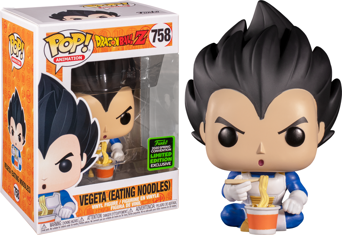 Dragon Ball Z - Vegeta Eating Noodles Spring Convention 2020 Funko POP!
