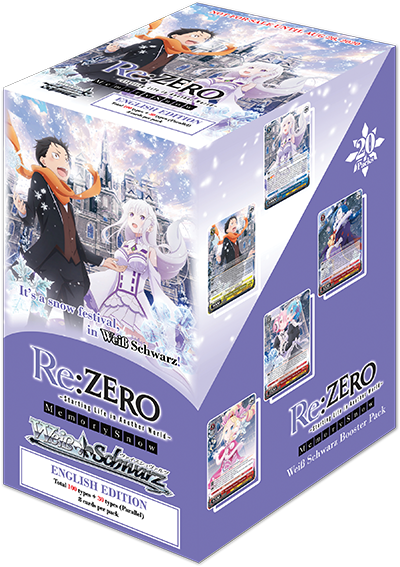 Weiss Schwarz Re:ZERO Starting Life In Another World - Memory Snow Booster Box