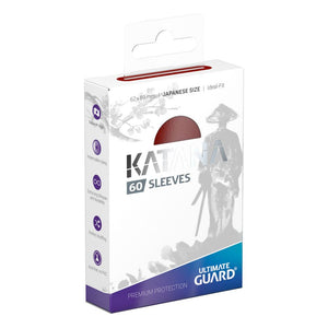 Ultimate Guard - Katana Red Japanese Size sleeves 60pc