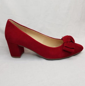 Gabor Court Shoe - Red Suede