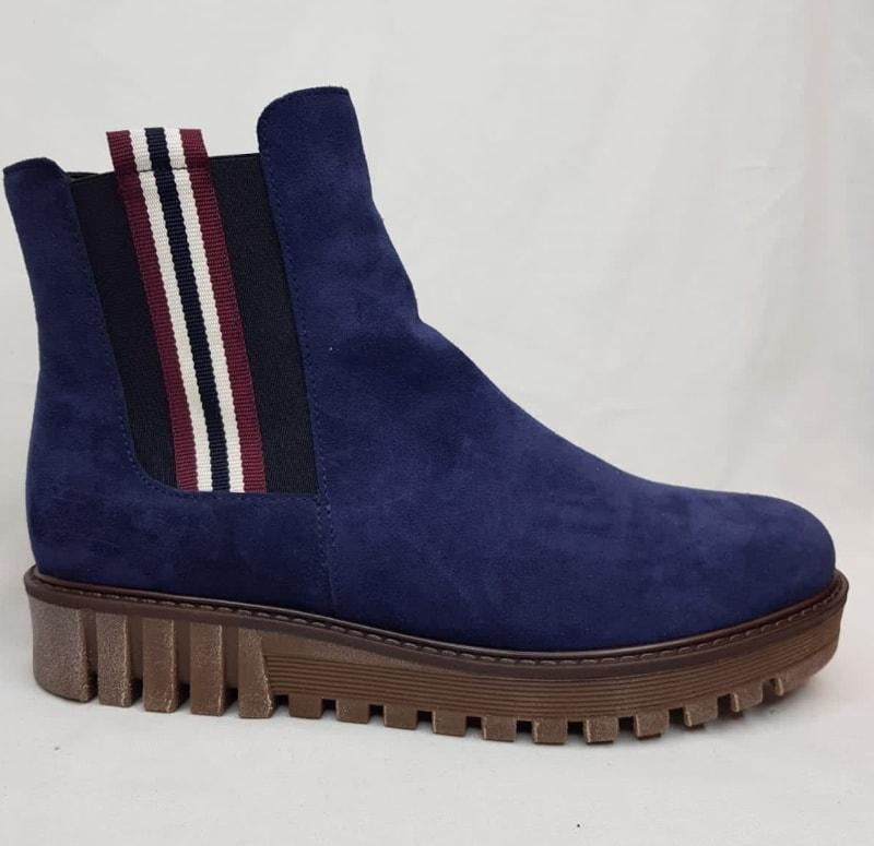 Gabor Flat Ankle Boot - Navy