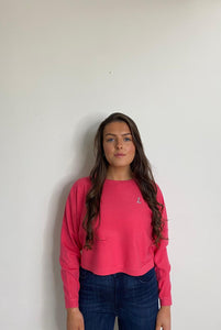 Molly B Coral Cropped Jumper