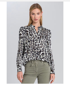 Marc Aurel Monochrome Print blouse
