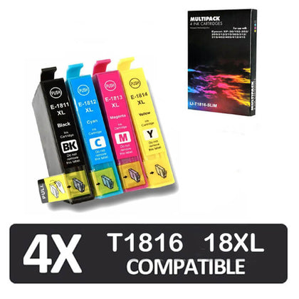 IJ T1816 Compatible Multipack of Epson Ink Cartridges  (IJ-T1816-SLIM) - Click 4 Ink