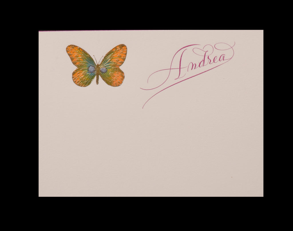 Personal; title: Andrea with butterfly