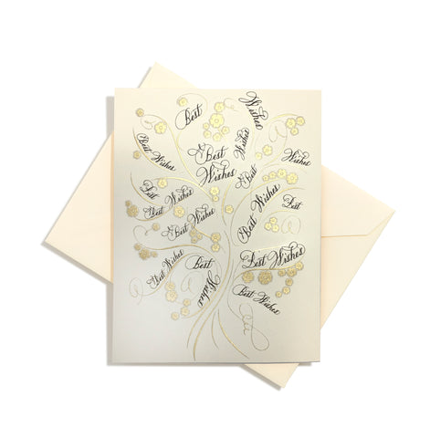 Tree of Life Best Wishes folder card