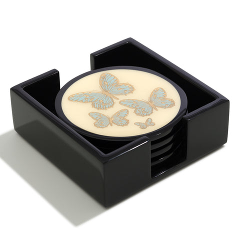 Butterfly Lacquer Coasters  |  Set of 4