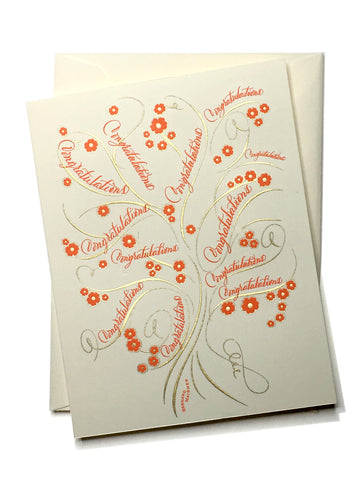 Tree of Life Congratulations Folder Card