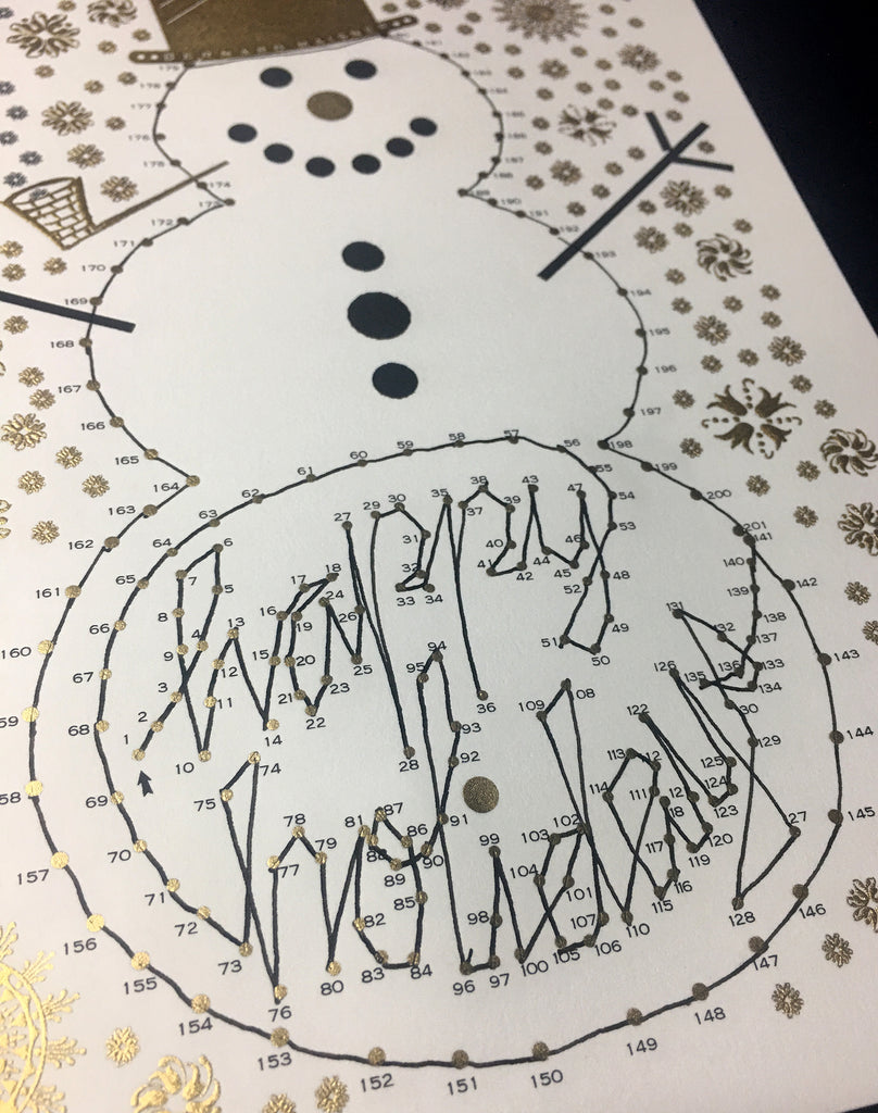 CONNECT THE DOTS / HAPPY HOLIDAY FOLDER CARD