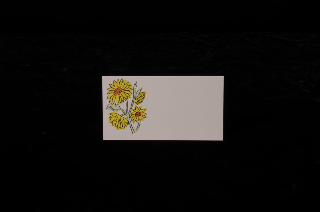 Envelopes & Placecards; title: Sunflower Place Card