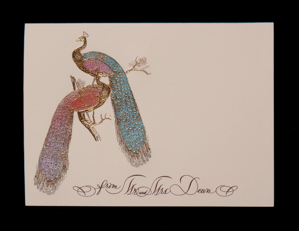 Custom Retail; title: Double Peacock Alicia & Dean