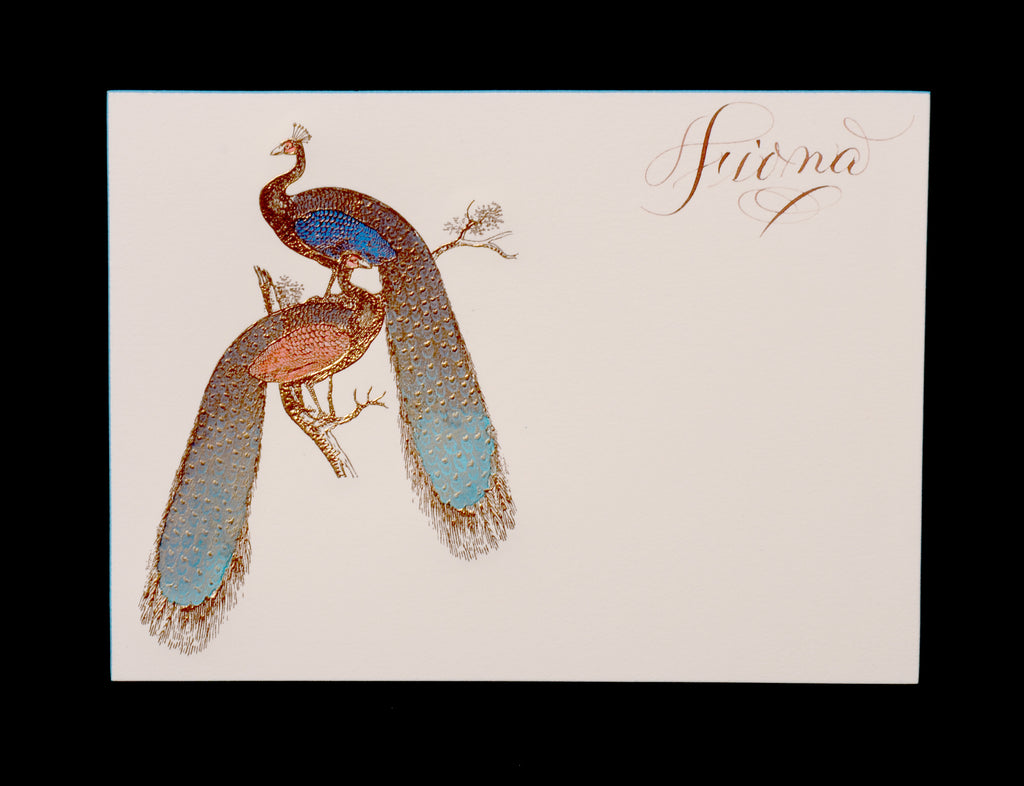 Custom Retail; title: Double Peacock Fiona