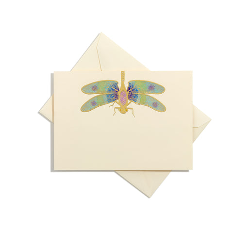 Dragonfly Hand-Painted Grand Statement Card
