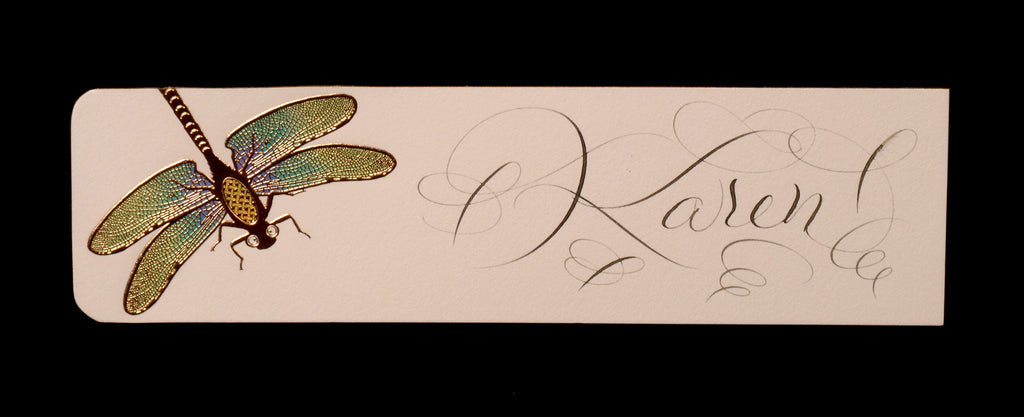 Custom Retail; title: Dragonfly Bookmark Karen