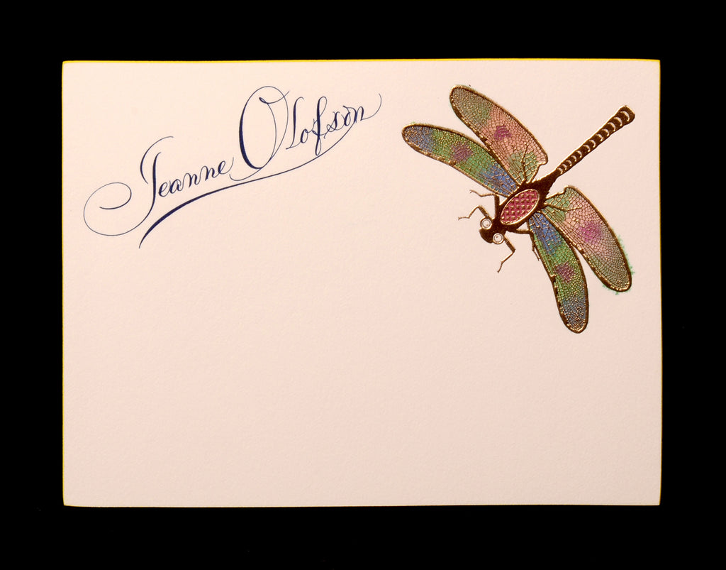 Custom Retail; title: Dragonfly Jeanne