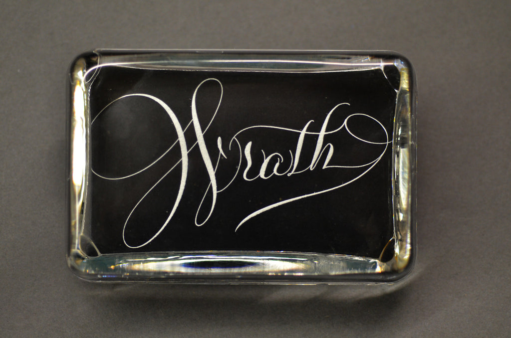 Wrath Paperweight, Large Rectangle