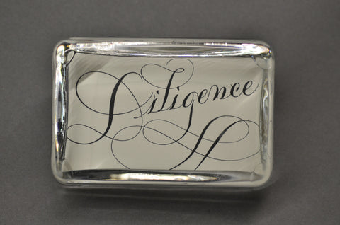 Diligence Paperweight, Large Rectangle