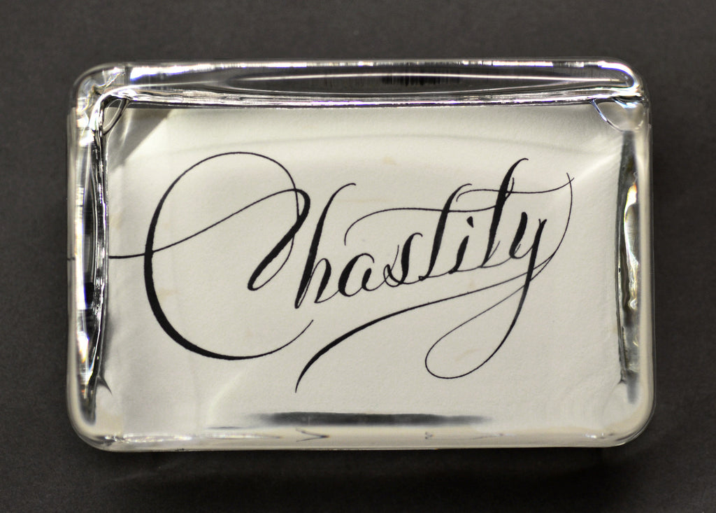 Chastity Paperweight, Large Rectangle