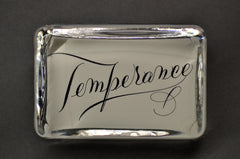 Temperance Paperweight, Large Rectangle