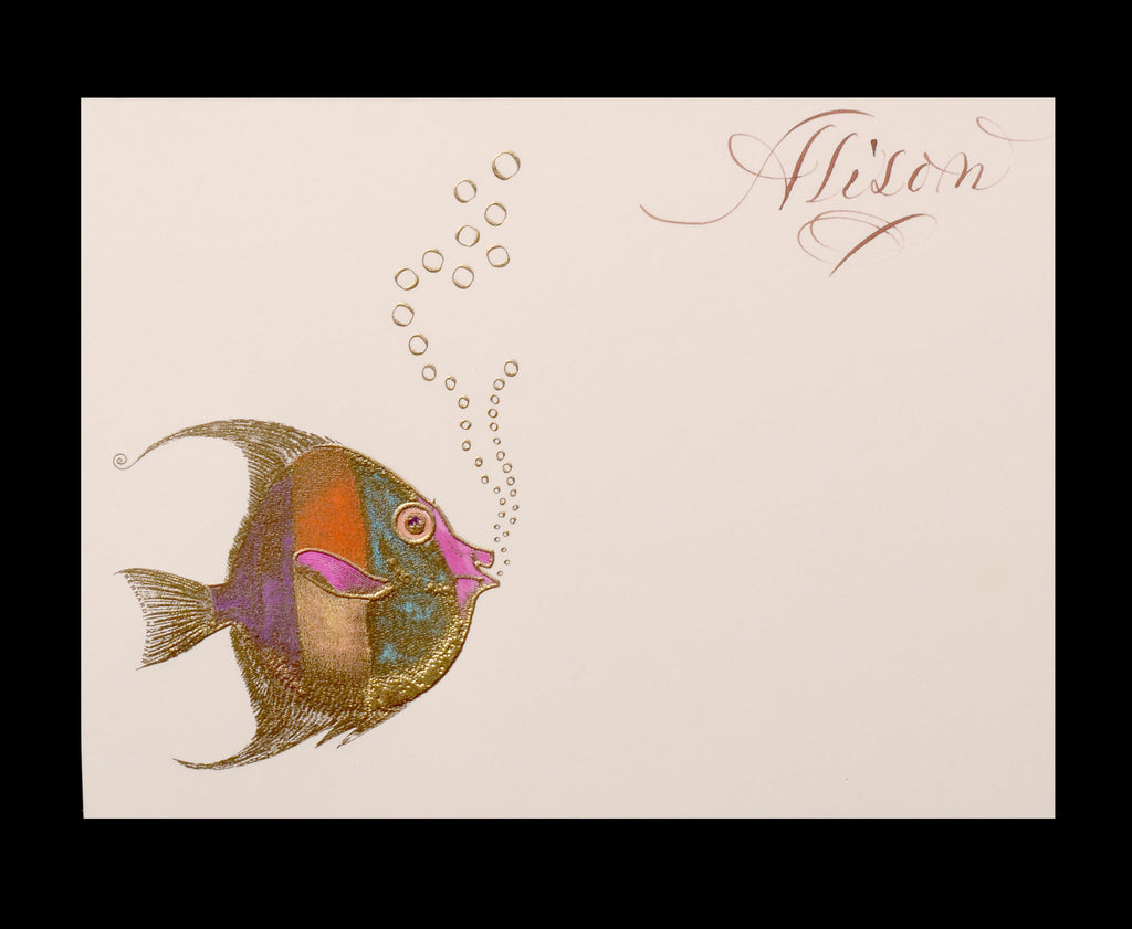 Custom Retail; title: Fish with Bubbles Alison
