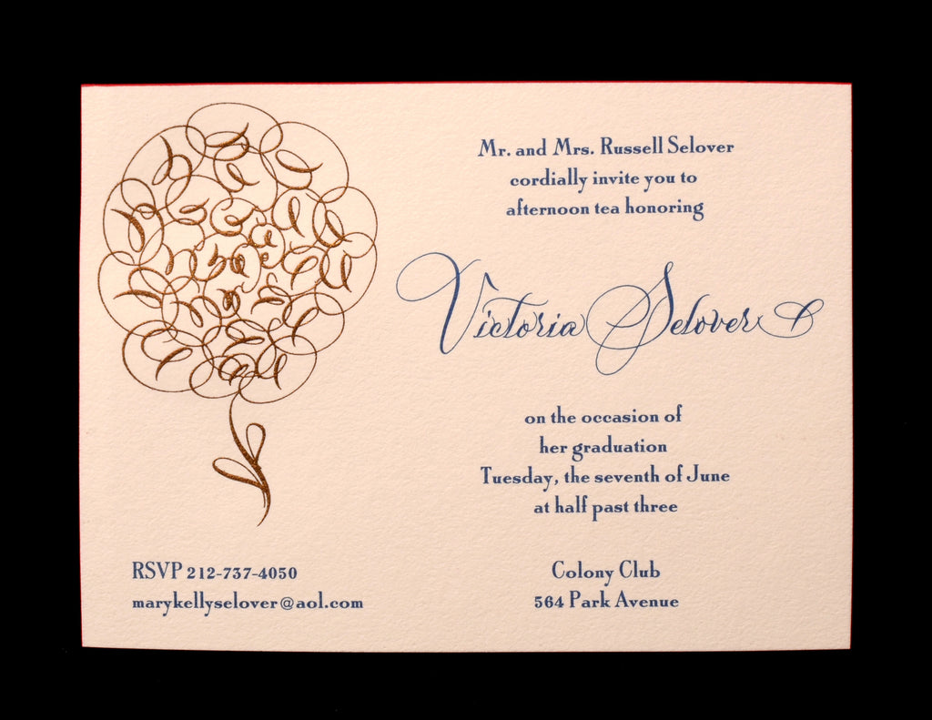Custom Retail; title: Flower Victoria Invite