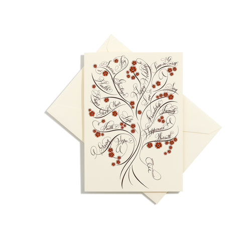 Tree of Life Folder Card | Set of 8