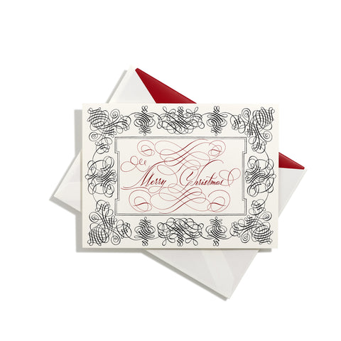Christmas Folder Card with Border | Set of 8