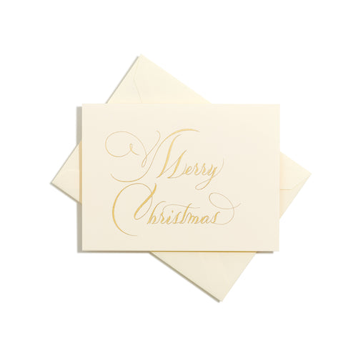 Merry Christmas Folder Card | Set of 8