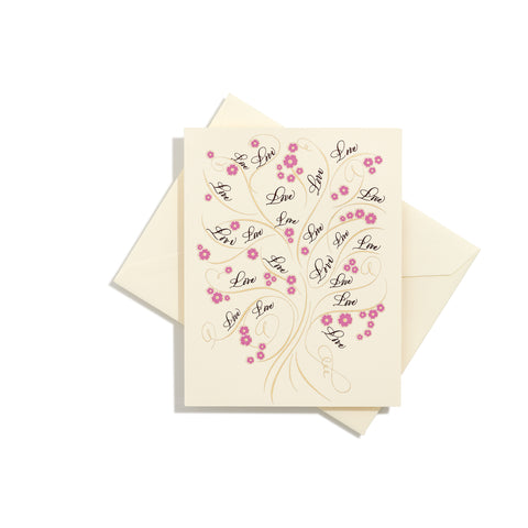 Tree of Life Love Folder Card