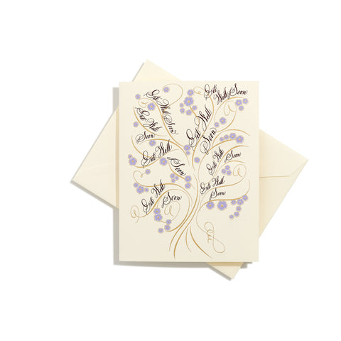 Tree of life Get Well Folder Card