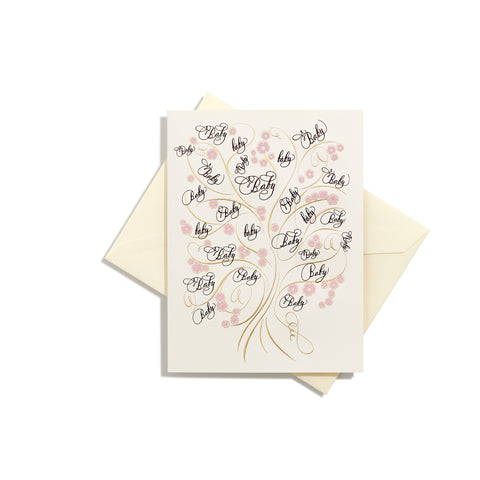Tree of Life Baby Girl Folder Card