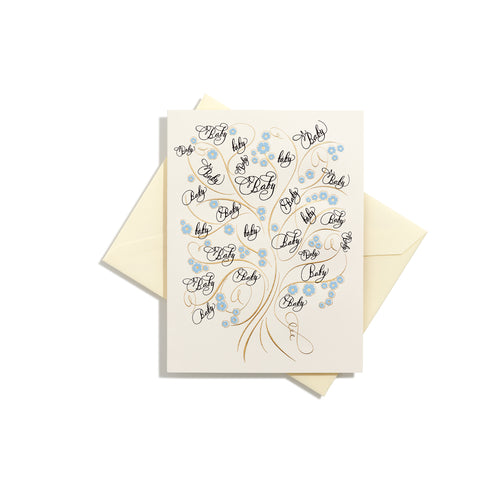 Tree of Life Baby Boy Folder Card