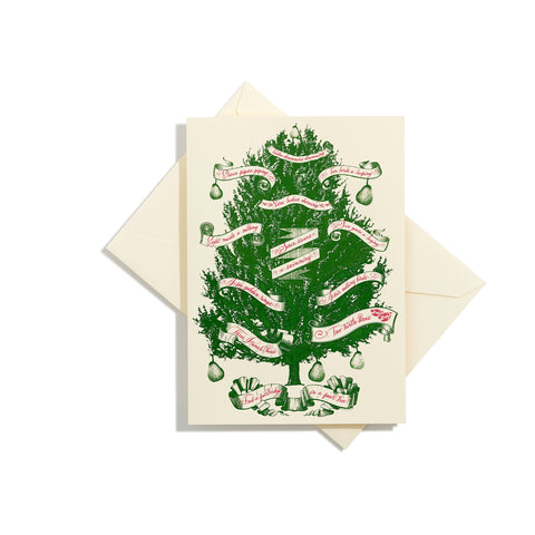 Partridge in a Pear Tree Folder Card | Set of 8