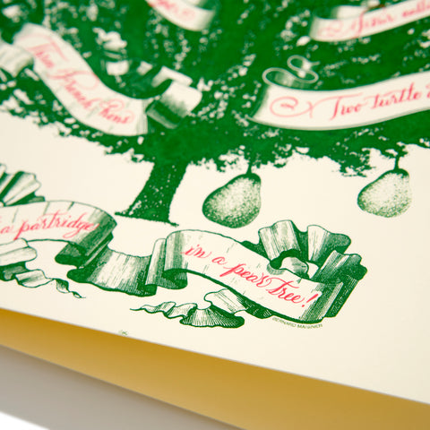 Partridge in a Pear Tree Folder Card