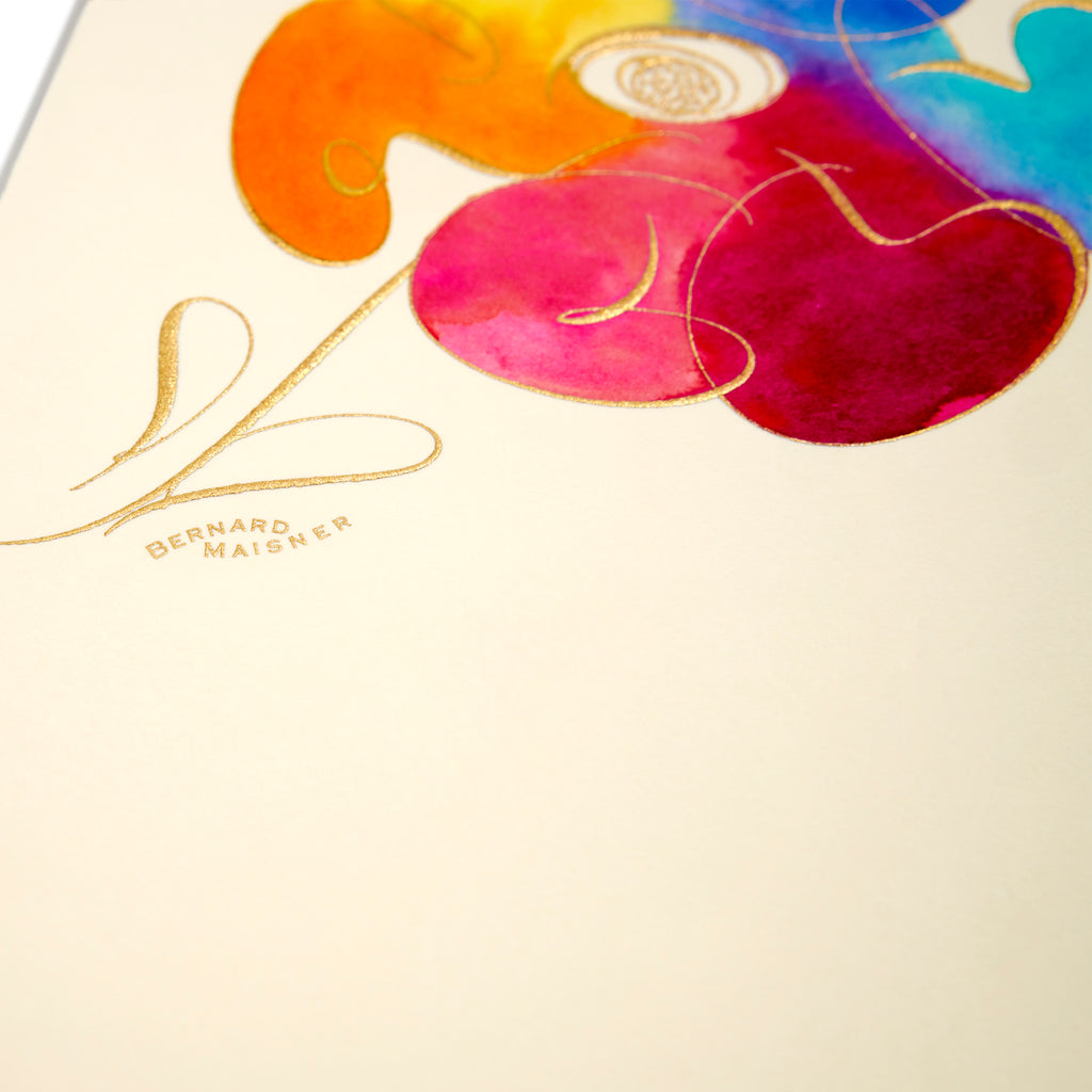 Flowers Hand-painted Grand Statement Card