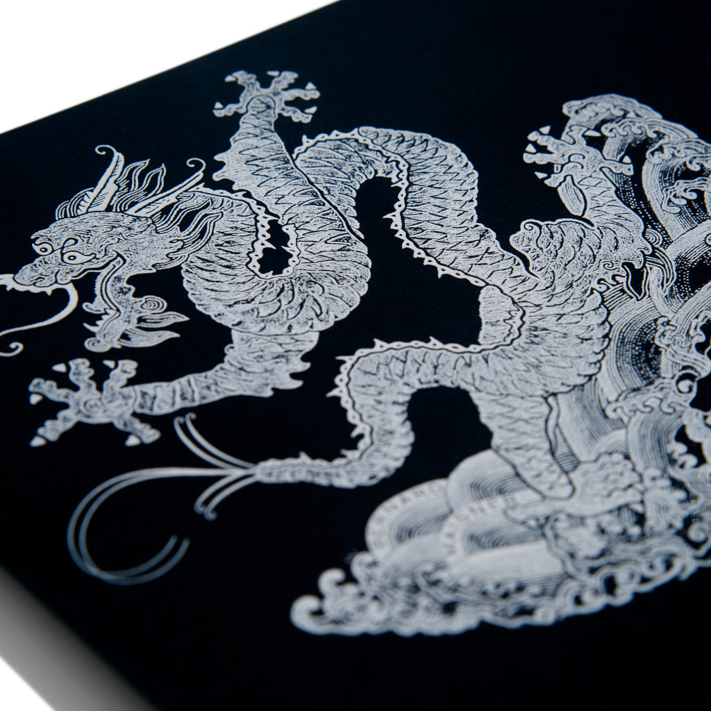 Dragon Black and White Grand Statement Card