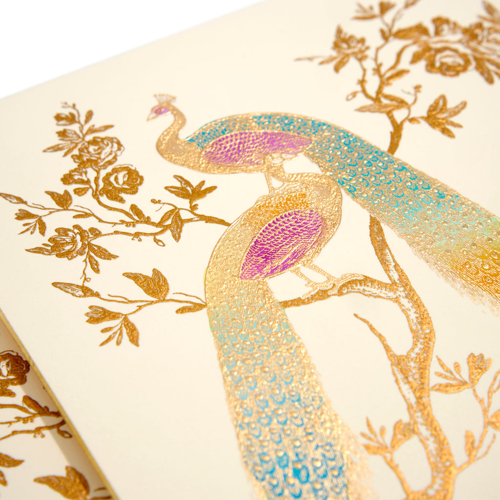 Peacock Hand-Painted Grand Statement Card