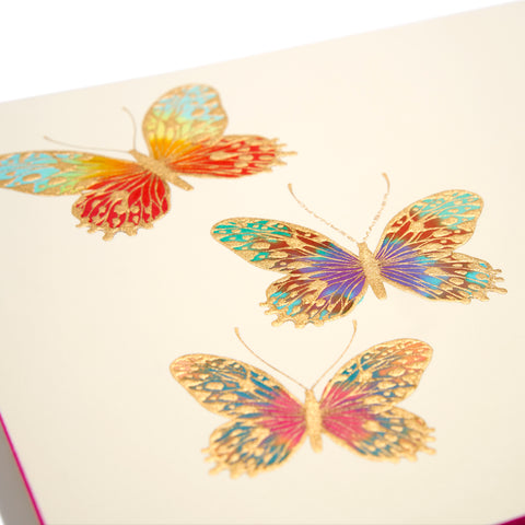 Butterfly Hand-painted Grand Statement Card