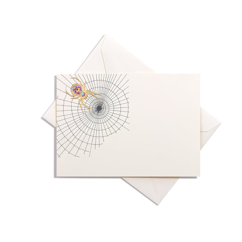 Spider Hand-Painted Grand Statement Card