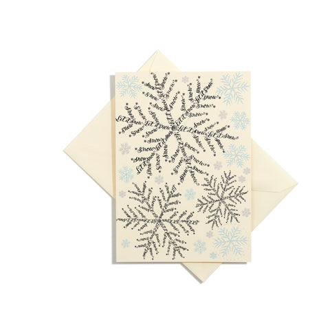 Let It Snow Grand Statement Card