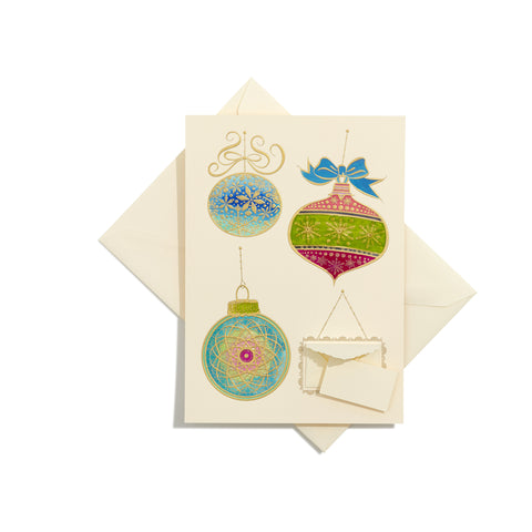 Ornaments Hand-Painted Grand Statement Card