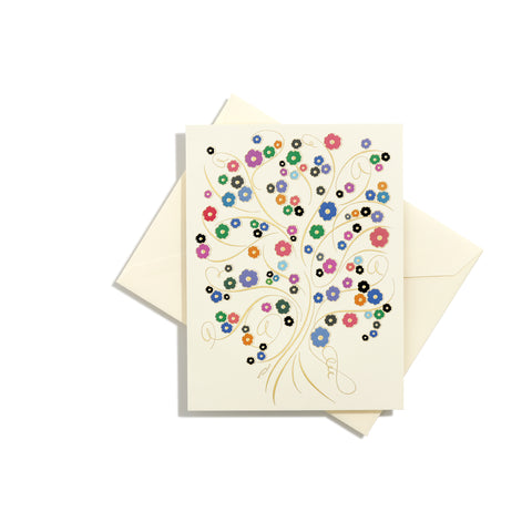 Tree of Life Multicolor Folder Card
