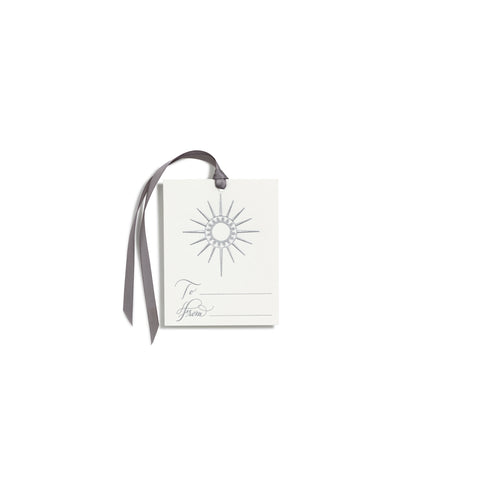 North Star Silver Gift Tag | Set of 6