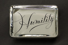 Humility Paperweight, Large Rectangle