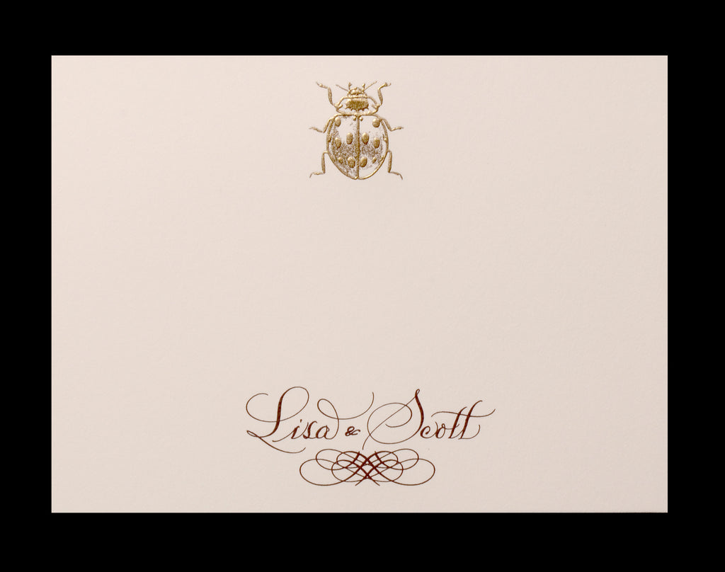 Custom Retail; title: Ladybug Lisa & Scott