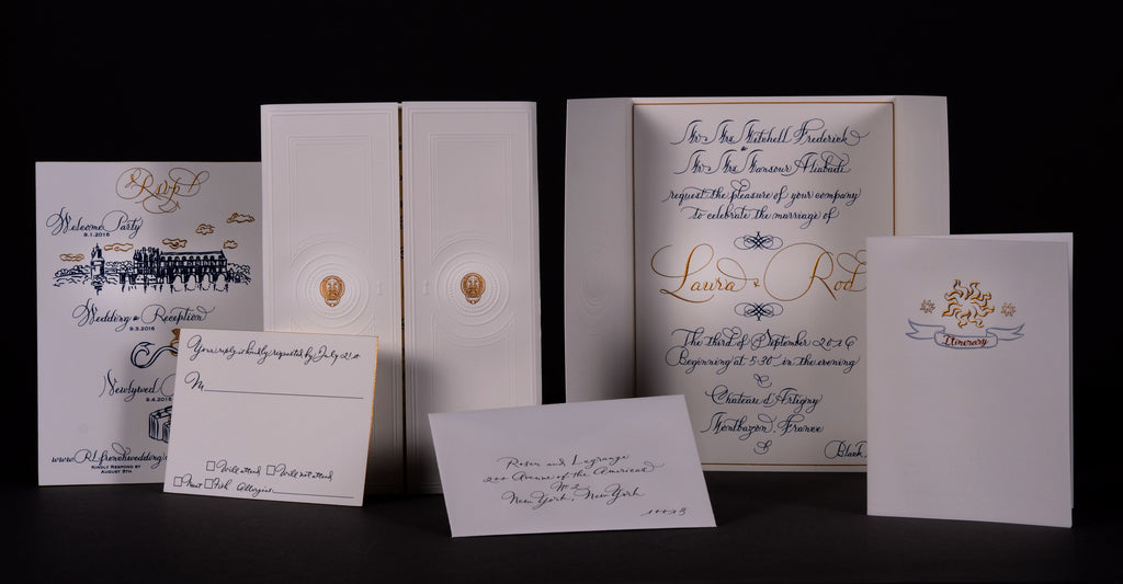 Invitations; title: LaGrange Set