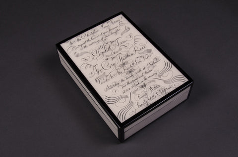 Customized Invitation Lacquer Box
