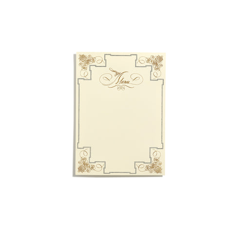 Gold Deluxe Menu  |  Set of 10
