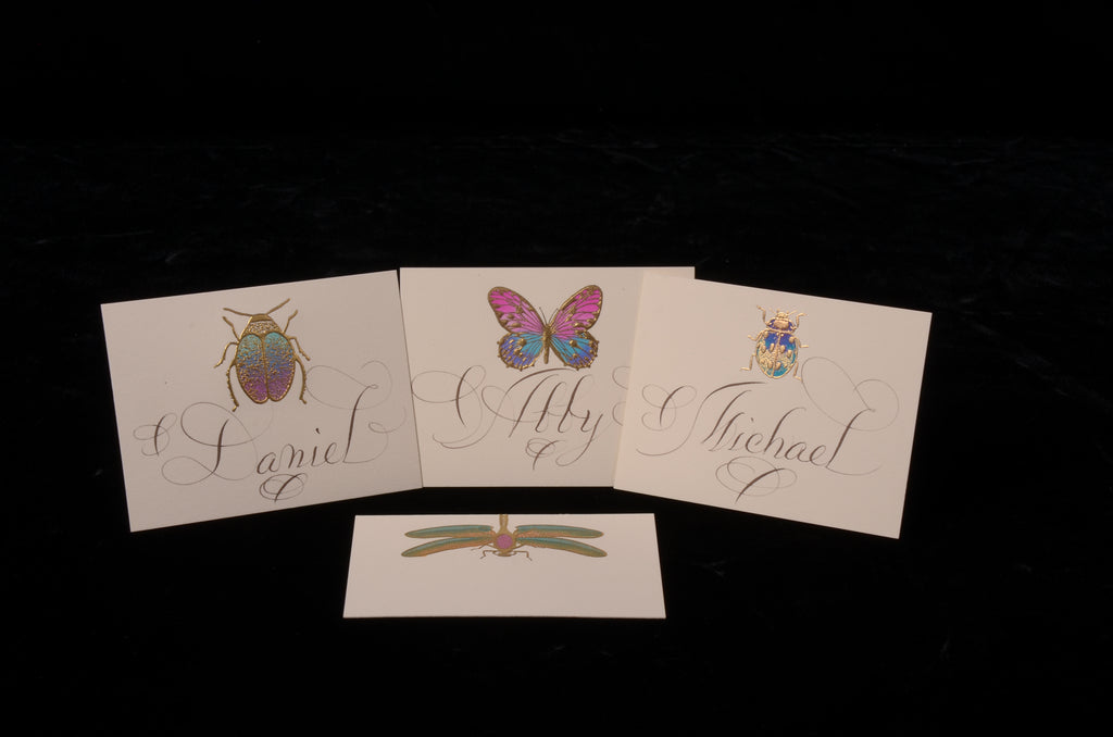 Envelopes & Placecards; title: Mixed Hand-painted Place Card