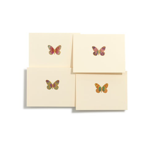 Butterfly Hand-painted Folder Cards | Set of 8